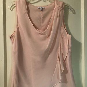 GAP pale pink, fluid drapey top